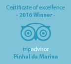 Certificate of Excellence Tripadvisor Winner of 2016